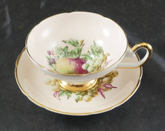 Regency Fine Bone China Cup and Saucer FRUIT