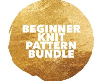 Beginner Knit Pattern Bundle, pattern bundle, beginner pattern, beginner knit, beginner knit DIY, Knit DIY, circle scarf, bumhugger, bolero