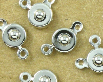 SALE 5 sets snap button clasps in silver. (IB102s)