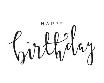 Happy Birthday | A6 Hand Lettered Birthday Card