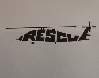 SH60 Rescue Decal