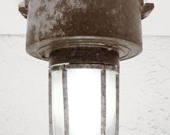 Vintage Explosion Proof Light Fixture, Industrial Loft Ceiling Light, Crouse Hinds