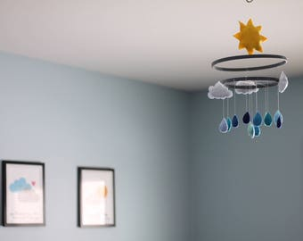 Sky Mobile Nursery Chandelier Decoration