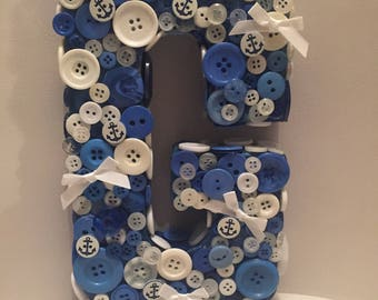Button n bow letters