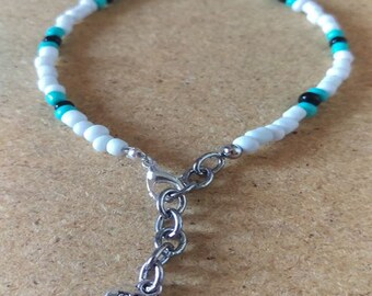 Seed Bead Anklet 8-10 inches adjustable