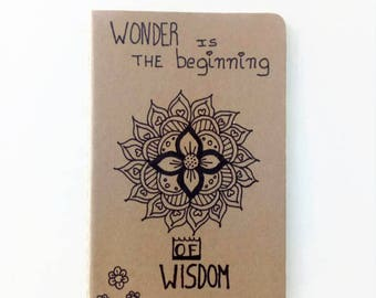 "Moleskine ""Socrates"" Cahier Journal - Original Moleskine Notebook - Hand drawn notebook - Christmas gift"