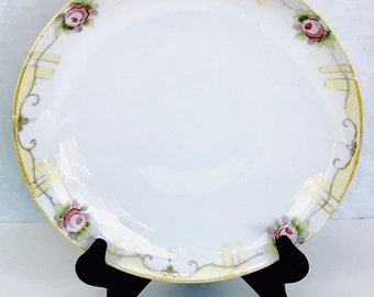 Antique Nippon Moriage Plate