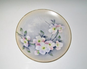 Vintage Collectible Plate Floral Spray Weimar Hand Painted China Germany