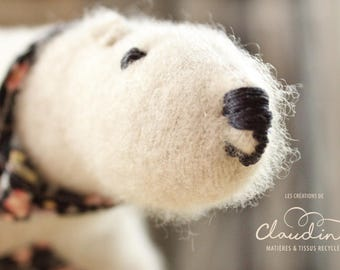 Recycled wool polar bear
