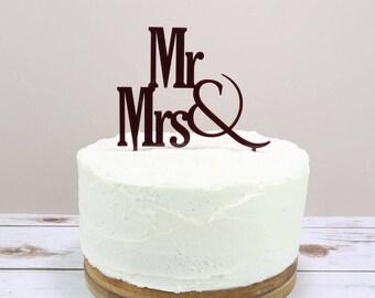 Mr & Mrs Cake Topper - Wedding Cake Topper - Mr and Mrs Cake Topper - Mr and Mr Cake Topper - Mrs and Mrs Cake Topper - Wedding Day Cake