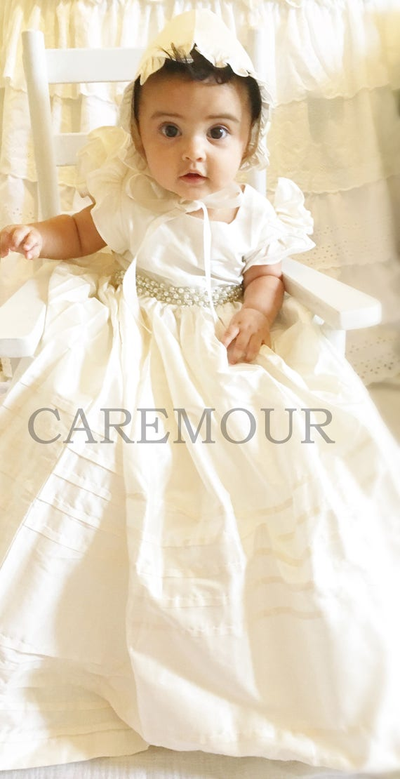 Christening Gown Baptism Gown Baptism dress for baby girl