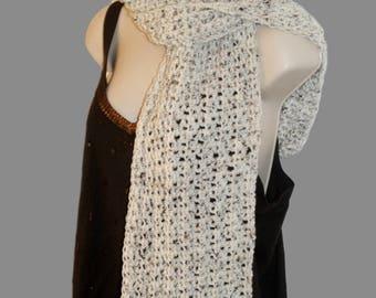 Crochet Scarf, Neckwarmer, Neck Scarf, Oatmeal Scarf, Man Scarf, Womens Neck Wrap, Woman Scarf, Beige Scarf, Long Scarf, Winter Scarf