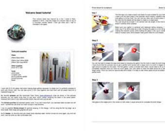 Lampwork tutorial Instant download Lampwork glass tutorial lampworking making glass beads volcano by Anne Londez SRA