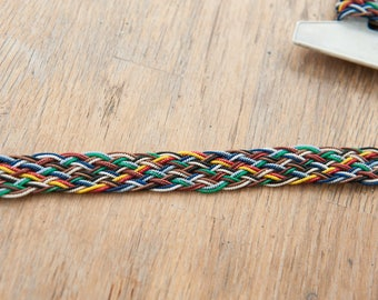 3 yards Belting- Vintage Trim 70s 80s New Old Stock Fun Belt Indian Beads Woven