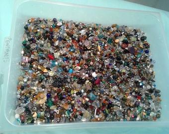 4 LB. Swarovski, pearl, semi precious, handmade glass mix!
