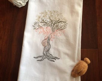 Embroidered Dish Towel 'EARTH MOTHER'
