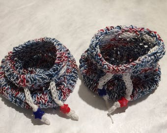 Crochet Payriotic Pouches