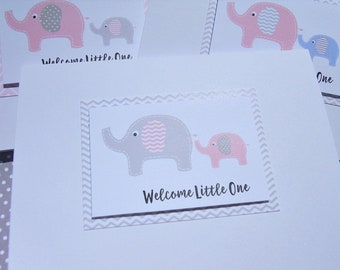 Welcome Baby Boy Cards - Welcome Baby Girl Cards - Baby Shower Cards - Mommy To Be Cards - Baby Elephant cards - pemb