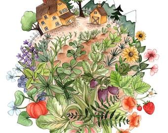 """Grow A Garden 8.5x11"""" Print"""