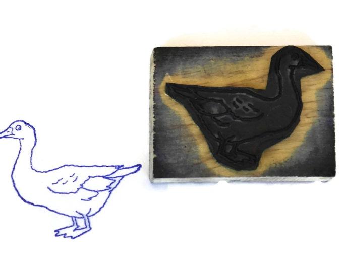 Goose Rubber Stamp Wood Print Block.