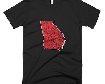 Georgia Shirt, Georgia Map Shirt, Map Art Shirt, Georgia Pride Shirt, Georgia Valentines Gift, Valentines Gift for Men, Georgia TShirt,