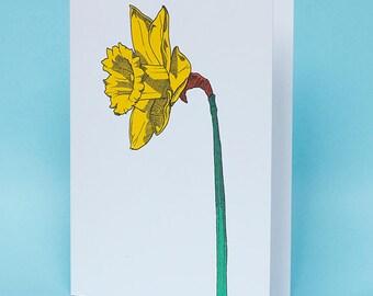 Daffodil card - Flower card - Daffodil design - Spring card - Nature card - Blank card - Nature illustration - Flower art - Spring flower