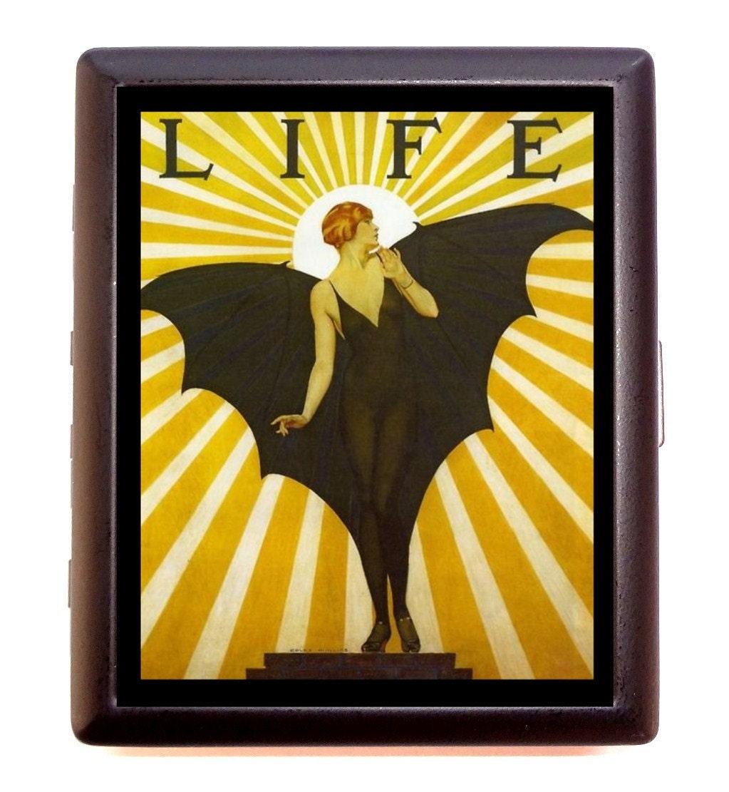 Bat Lady Cigarette Case Art Deco Art Nouveau Goth Gothic