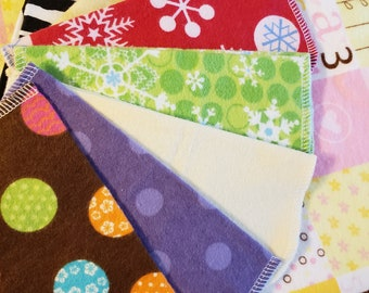 CLEARANCE, Grab Bag, Cloth Wipes, Family Cloth, Set of 12