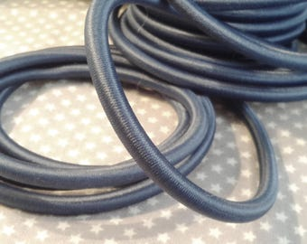 20 cm cord 5 mm silk, Prussian blue color