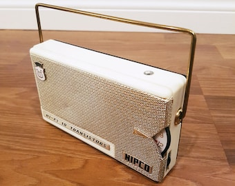 1960s NIPCO Hi-Fi 10 Transistor Radio, Made in Japan, For Restore or Decor