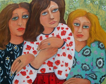 Friends - original oil painting