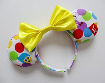 Pixar Inside Out Colorful Dot Emotions Print Mouse Ears Headband