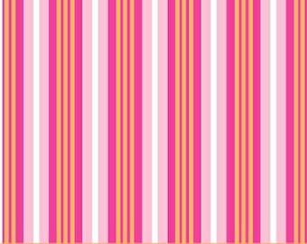 Melanie Hurlston for Windham, Stripe in Pink  (32078-3) - 1 Yard Clearance