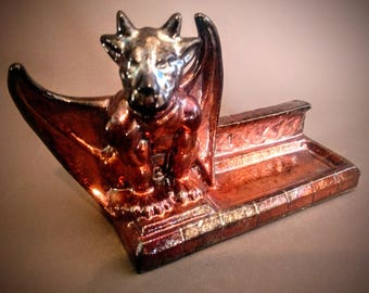 Gargoyle Business Card Holder - Black Metallic