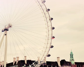 Cloud Rush - London Eye Landscape Photography Print