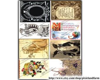 Halloween Tags Vintage Printable Digital Download