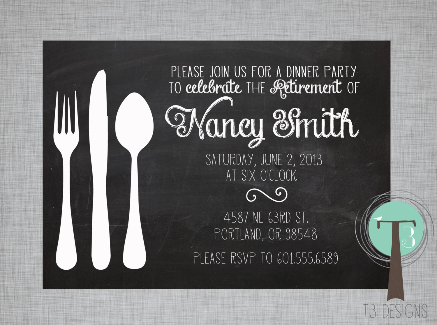 retirement party invitation dinner party invitation, Powerpoint templates