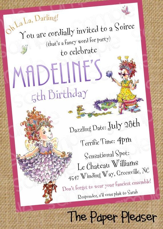 Fancy nancy customizable birthday invitation filmwisefo