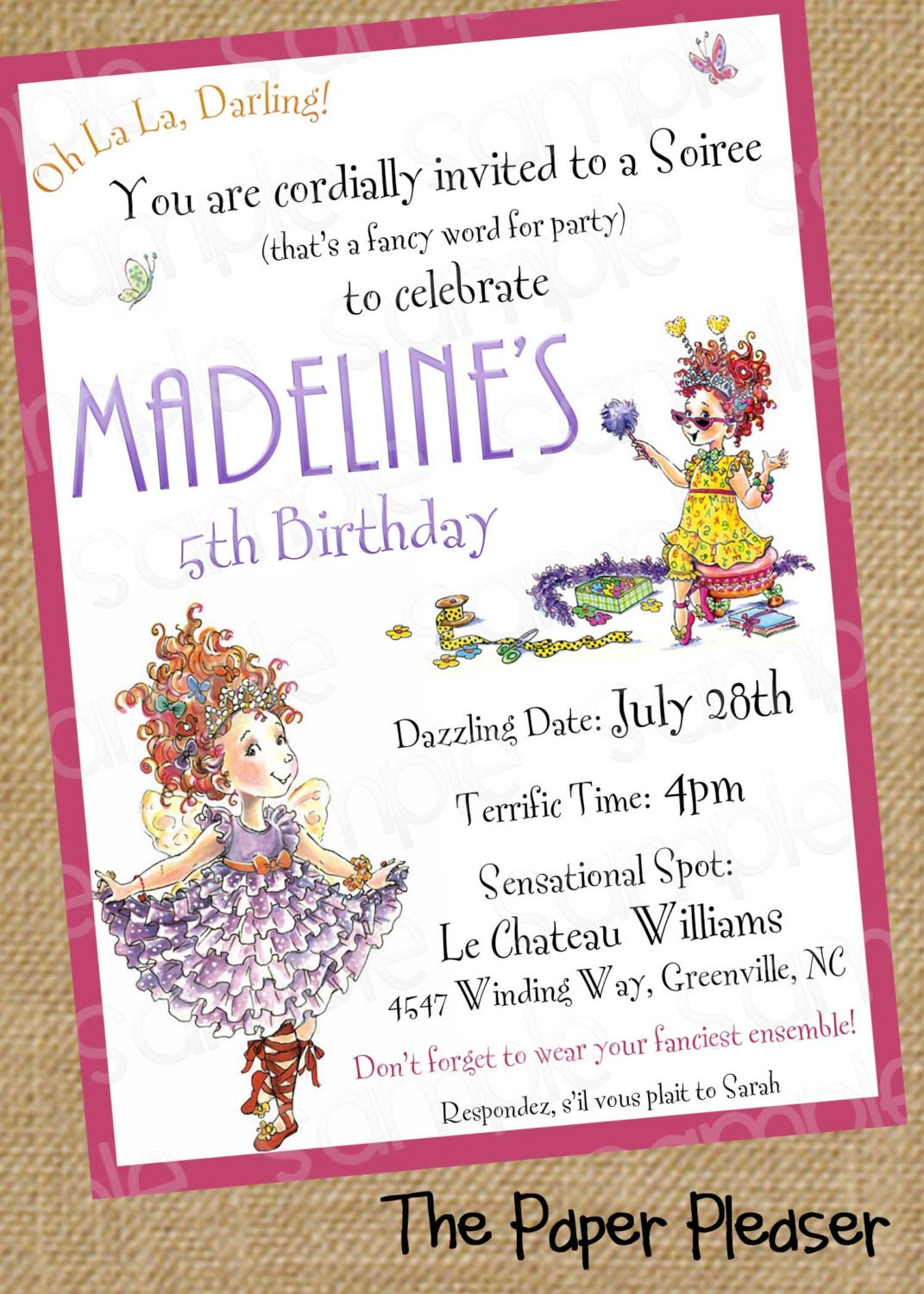 It's just an image of Clean Imprintable Birthday Invitations