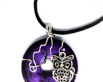 Owl Jewelry, Owl Pendant Necklace, Forest Animal Jewelry, Owl Totem