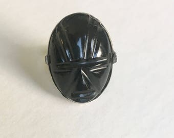 vintage Mexican mask ring, size 8