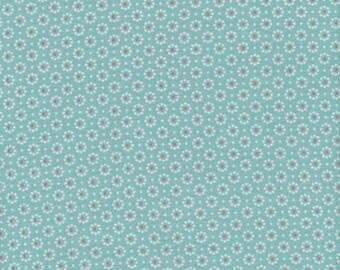 A. U maison oilcloth Belle Fleur Aqua Sky Floral coated cotton
