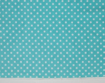 SALE 20% OFF Cotton Flannel Fabric - By the Yard - Blue with White Polka Dot Flannel, Soft, delicate, neutral, baby
