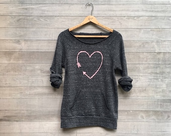 i love you more Heart Sweatshirt, Valentine's Day Gift, Girlfriend Gift, Cozy Sweater, Anniversary Gift, Sizes Small-2XL