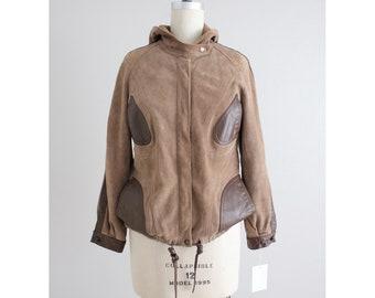 suede bomber jacket | brown suede coat | suede leather jacket