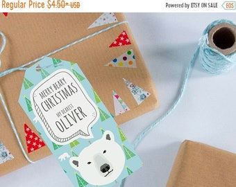 Christmas gift tags   Personalized tags,Bear tag,Christmas gift wrap,Custom name tags,Custom gift tags,Holiday gift tag,Merry Christmas tags