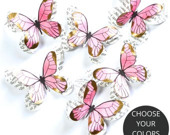 Butterfly party decorations, pink and gold first birthday, pink and gold party decorations, pink and gold wedding, butterfly nursery decor