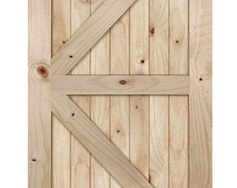 """Barn doors. 36"""", 32"""", 30"""" x 80"""" your choice. Door only."""