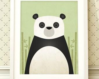 Panda bear nursery art, animal print, bear prints, nursery art, nursery wall art, nursery prints, panda bear, panda print, panda wall art