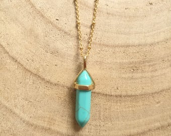 Turquoise spike necklace